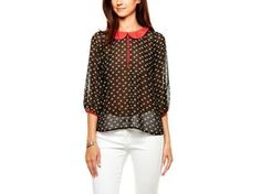 Owl Print Peter Pan Blouse by Lovemarks from Ali Fedotowsky on OpenSky