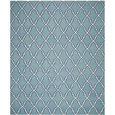 Safavieh Dhurries Collection DHU564B Handmade Light Blue and Ivory Wool Area Rug, 6 feet by 9 feet (6′ x 9′) #handmade The Dhurries Collection evokes classic Morrocan design and culture. These rugs bring traditional sophistication and mystique of Morocco to your home. These rugs feature a flat weave construction with modern colors that will be a welcome addition in any décor. Each rug has a dense, soft pile, and excellent quality, to ensure that you will enjoy the look and feel of yo..