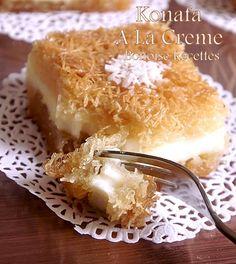 Gateau arabic - konafa - Bonoise revenue art of kitchen of Sihem cakes Algerians Algerian cuisine biscuits ramadan Köstliche Desserts, Delicious Desserts, Dessert Recipes, Yummy Food, Egyptian Desserts, Egyptian Food, Arabic Sweets, Arabic Food, Bakery Recipes
