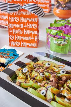 Spooky Apple Nachos
