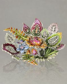 """Jay Strongwater """"Palm & Floral"""" Tray - Neiman Marcus"""