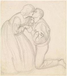 The Rose Garden - Figure Study by Dante Gabriel Rossetti