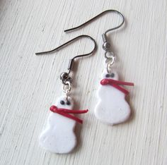 Polymer Clay Christmas Earrings Polymer Clay by MadeByTheHearth, $3.00