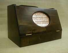 Bread Box Country Kitchen Hardwood Copper Insert Dark Chocolate on Etsy, $70.08 CAD Bread Boxes, Brass Hinges, Daily Bread, Country Kitchen, Country Style, Hardwood, Kitchens, Copper, Chocolate