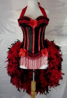 Victorian Moulin Rouge Burlesque. #Halloween #costume