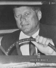 Jack Kennedy behind the wheel