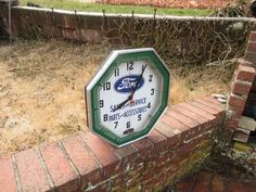Rare Vintage Ford Sales & Service Neon Advertising Clock Neon Products Lima OH #Ford
