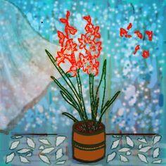 L'Orchidée Rouge - mixed media, digital art - juillet 2021 Plants, Art, Paint, Drawing Drawing, Canvases, Art Background, Kunst, Plant, Performing Arts