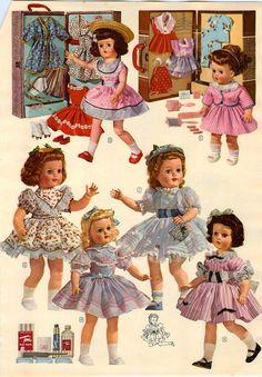 1956 57 AD 2 Page Paris Walker Trousseau Dolls Ideal Horsman Saucy