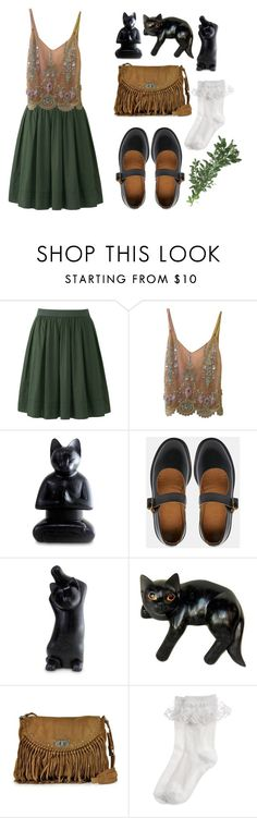 """Untitled #33"" by redruum on Polyvore featuring Uniqlo, Cynthia Rose, NOVICA, Dr. Martens, Zadig & Voltaire and Monsoon"