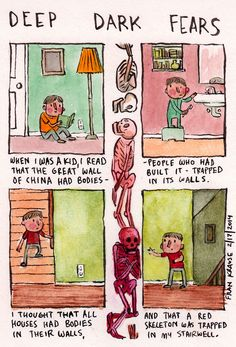 Deep, dark fears tumblr: Readers submit their fears which the artist makes into a 4-panel comic. Great idea for teaching...