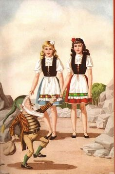 Snow White And Rose Red - the dwarf was angry that he had been handled so roughly, he picked up his bag of precious stones and left..