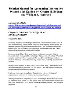 Download solution manual for accounting information systems 11th edition by bodnar hopwood Accounting Information, Teaching Tips, Manual, Author, Free, Textbook, Writers