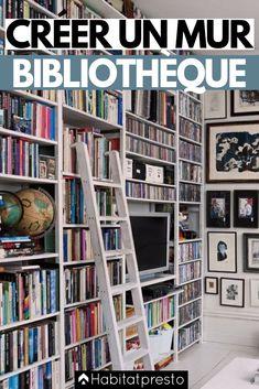 Wall Bookshelves, Wall Shelves, Bookcase, Bibliotheque Design, Library Wall, Book Wall, Apartment Renovation, Wall Cladding, Closet Bedroom