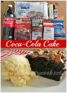 Double Fudge Coca-Cola Cake Recipe {like Cracker Barrel!} from The Country Cook. The soda makes this cake so tender and moist and adds an amazing flavor. We like to make it with Dr. Pepper or Cherry Coke too! And that fudge frosting is to die for!