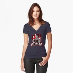 'Animais' Fitted V-Neck T-Shirt by marciosilger Shirt Diy, My T Shirt, V Neck T Shirt, Flag Shirt, T Shirt Designs, Liberty, Rick Y Morty, Vintage T-shirts, Queen
