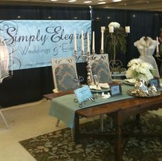 Simply Elegant Wedding & Events (event planner) --- Booth at 2012 Georgetown Bridal Show.