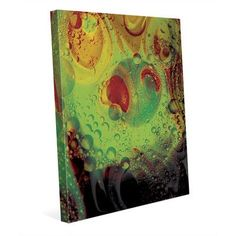 """Click Wall Art 'Alien Carbonation' Graphic Art on Wrapped Canvas in Green Size: 24"""" H x 20"""" W x 1.5"""" D"""