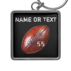Personalized Vintage Football Team Gifts YOUR TEXT Keychain   Zazzle.com Football Crafts, Gifts For Football Fans, Football Season, Fantasy Football Names, Football Party Supplies, Personalized Football, Vintage Grunge, Vintage Football, 3d Printing