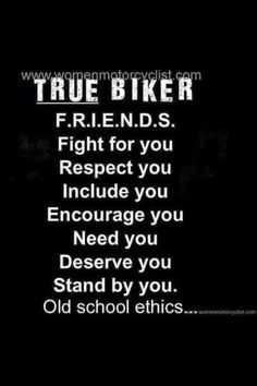 to Repair a Friendship After a Fight TRUE Biker F. Fight for you Respect you Include you Encourage you Need you Deserve you Stand by you Old school ethics Motorcycle Posters, Motorcycle Quotes, Harley Bikes, Harley Davidson Motorcycles, Biker Chick, Biker Girl, Harley Davidson Quotes, Biker Love, Riding Quotes