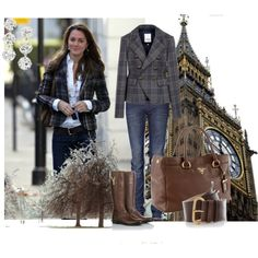 Love the plaid coat and YSL boots