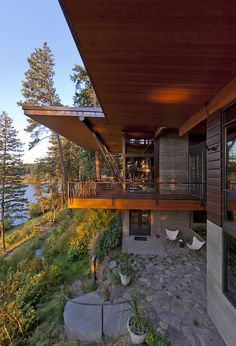 Cabin on a cliff overlooking Coeur D'Alene Lake