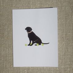 Black Lab Card Set