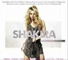 ¡La exitosa colombiana: Shakira es nuestra protagonista de esta noche!  Hoy estaremos transmitiendo desde el centro comercial Multiplaza El Salvador, en el 2do nivel. Acompáñanos para conocer más sobre el peculiar estilo de esta diva. Expertos, música y premios estarán presentes en el único programa en donde #LaModaSeEscucha  Tu cita es hoy, de 7:00 a 8:00PM a través de Radio Femenina 102.5