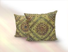 This floral kantha mirror work pillow cover Give traditional and attractive look in your living room by using this pillow cover.