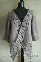 photo of #112 Dramatic Lace Wrap (Top-Down) Cardigan PDF Knitting Pattern