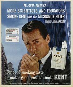 #Kent #cigarettes #print #advertisement #ad #micronite #filter