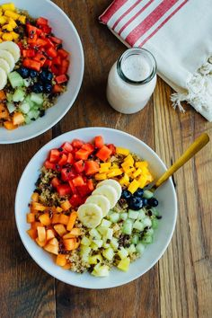 Cinnamon Quinoa Breakfast Bowl // Vegan and Gluten-free