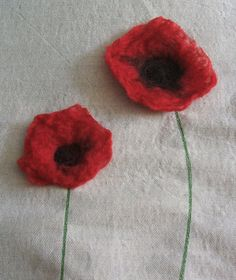 Felted Poppies by raspberry