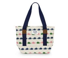 Sloane Ranger's Whale Tote bag is totally adorkable! So cute for running errands or out on the town. Made out of canvas and cotton, the bag also uses vegan friendly leather!