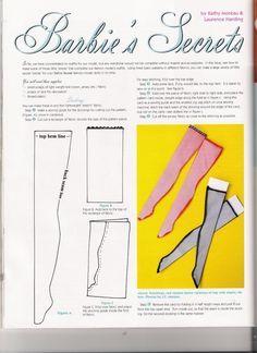 PAR AMOUR DES POUPEES :: Barbie : culotte, bas et gant