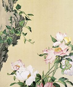 03. Painting of Peonies (Screenshot from Secret China) - See more at: http://www.chinagaze.com/2013/11/05/giuseppe-castigliones-chinese-painting-part-3/#sthash.YbM37Ruz.dpuf