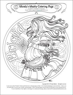 pagan coloring pages | Found on handcraftedpagan.com