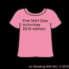 Pink Shirt Day Activities Pledge And Certificate Anti Bullying