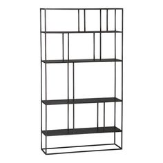 TeslaTallShelving3QS12 Crate and Barrel.  Maybe put against brick wall