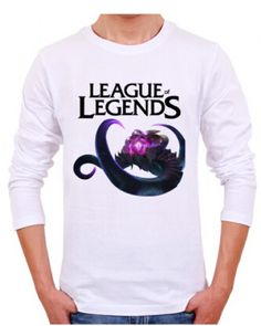 Plus size VelKoz mens tshirt game League of Legends long sleeve for spring-