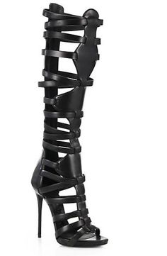 See how others are styling the Giuseppe Zanotti Cage Leather Knee-high Sandal Boots. Check if your friends own the product and find other recommended products to complete the look. High Heel Boots, Shoe Boots, Shoes Heels, Giuseppe Zanotti Boots, Zanotti Shoes, Gladiator Boots, Summer Boots, Spring Summer, Black High Heels