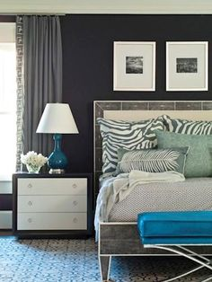 I love everything about this bedroom >> belle maison: Bedroom Blues