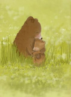 Childrens Art  Bear Hugs  Art for by RoseHillDesignStudio on Etsy, $20.00