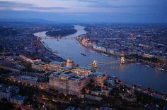 Buda castle, Budapest, Hungary - Amos Chapple/REX.  Photo taken using a drone.