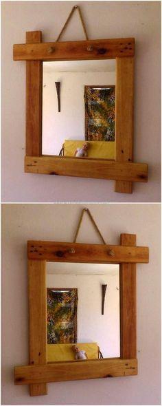simple pallet mirror idea