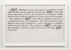 Fred Lonidier Religion vs. Art