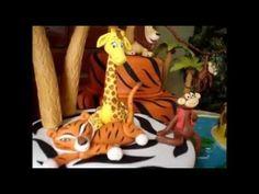 Torta Decorada Madagascar en la Selva - Lut Creaciones Tortas Decoradas - YouTube