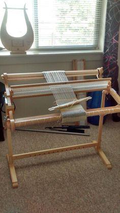 """What my 32"""" kromski harp loom looks like"""