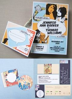Wedding Trend Alert: Comic Book Inspired Invites
