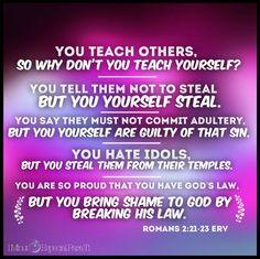Romans 2:21-23